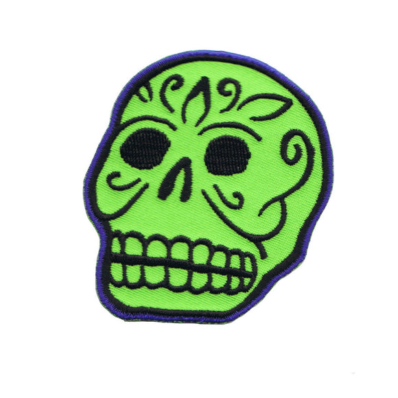 Artist Kruse Green Skull Patch Voo Doo Death Face Embroidered Iron On Applique