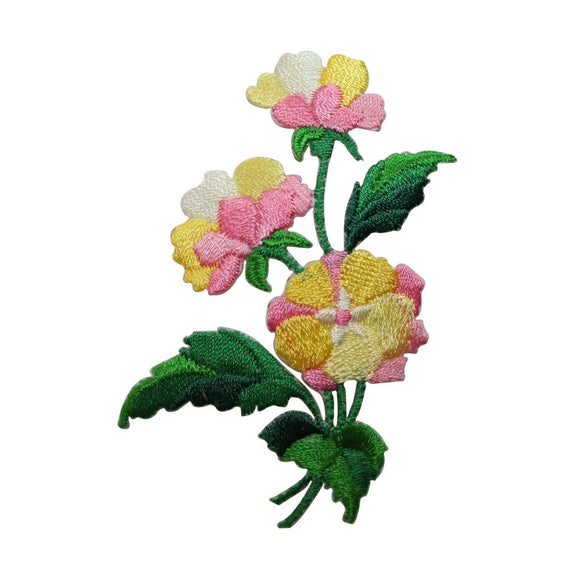 ID 6870 Blossom Flower Bouquet Patch Garden Plant Embroidered Iron On Applique