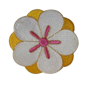 ID 6753 Exotic Flower Blossom Patch Garden Symbol Embroidered Iron On Applique