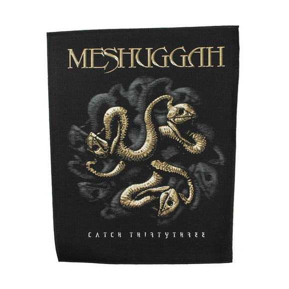 XLG Meshuggah Catch 33 Back Patch Metal Band Music Album Jacket Sew On Applique