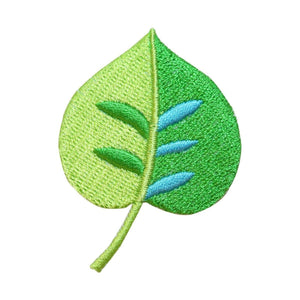 ID 7183 Green Leaf Patch Tree Plant Outdoor Nature Embroidered Iron On Applique