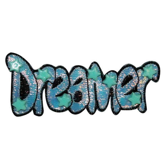 Dreamer Stars Name Tag Patch Shiny Craft Symbol Children Design Sew On Applique