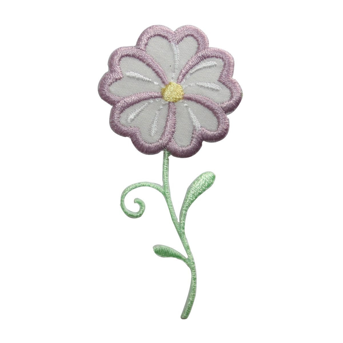 ID 8656 Purple Daisy Flower Patch Blossom Garden Embroidered Iron On Applique