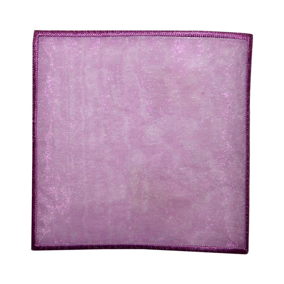 ID 8842 Purple Lace Square Patch Badge Shape Cover Embroidered Iron On Applique