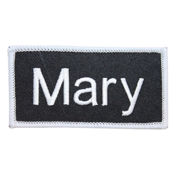 Mary Name Tag Patch Uniform ID Work Shirt Badge Embroidered Iron On Applique