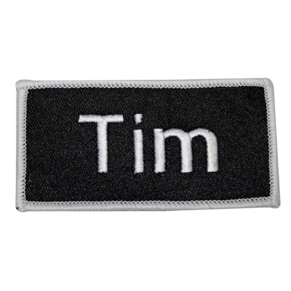 Tim Name Tag Patch Uniform ID Work Shirt Badge Embroidered Iron On Applique