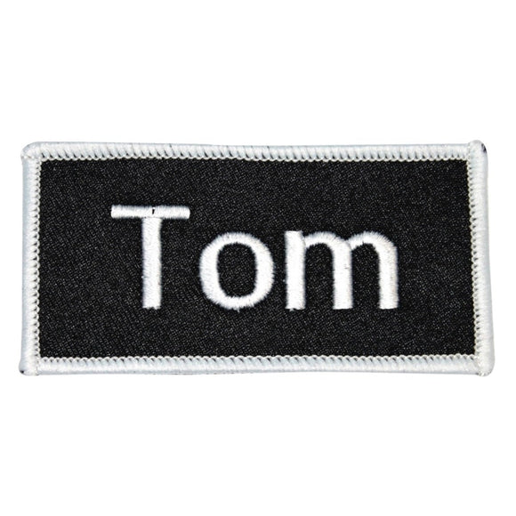 Tom Name Tag Patch Uniform ID Work Shirt Badge Embroidered Iron On Applique