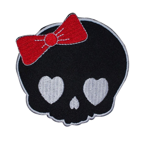 Dead Crush Girl Skull Patch Biker Graveyard Love Embroidered Iron On Applique