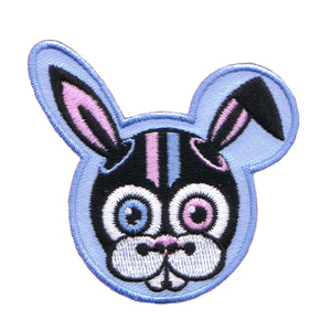 Astronaut Rabbit Patch Sci Fi Bunny Badge Space Embroidered Iron On Applique