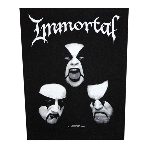 XLG Immortal Blashyrkh Back Patch Black Metal Music Jacket Sew On Applique