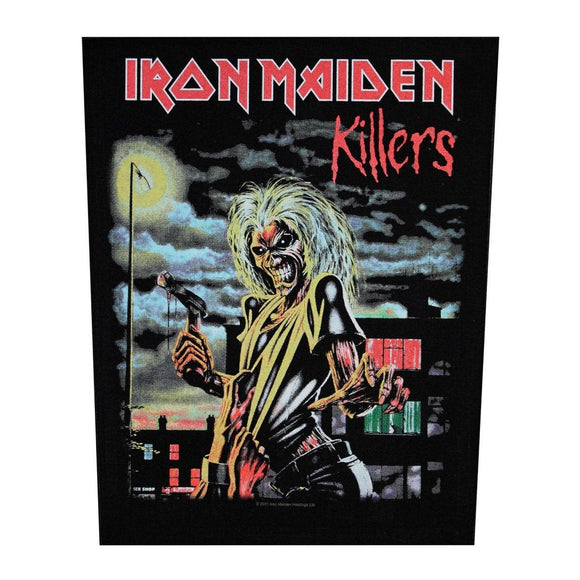XLG Iron Maiden Killers Back Patch Album Art Rock Music Jacket Sew On Applique