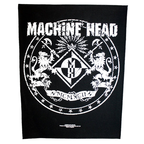 XLG Machine Head Crest Coat of Arms Back Patch Metal Band Jacket Sew On Applique