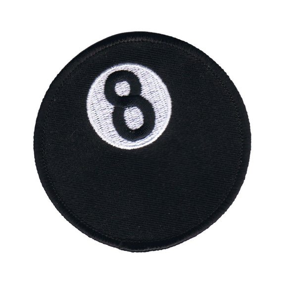 Black 8 Ball Patch Billiards Eightball Pool Game Embroidered Iron On Applique