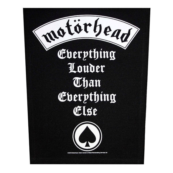 XLG Motorhead Everything Louder Back Patch Rock Music Jacket Sew On Applique