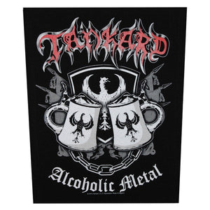 XLG Tankard Alcoholic Metal Back Patch Thrash Music Band Jacket Sew On Applique