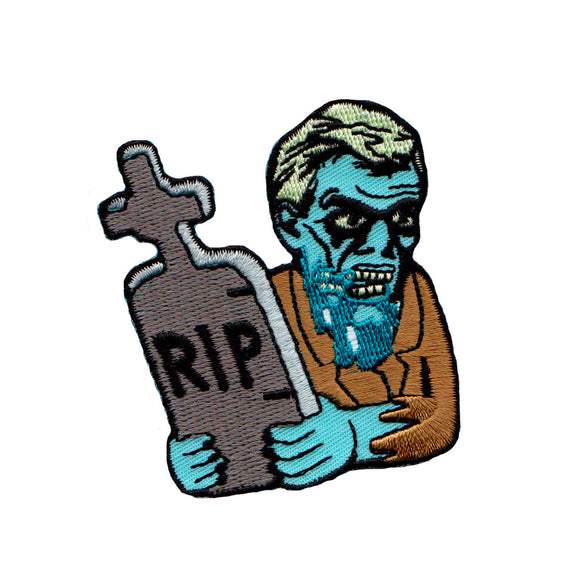 Chuck Wagon RIP Zombie Patch Artist Dead Dude Tomb Embroidered Iron On Applique
