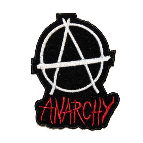 Anarchy Badge Patch Punk Rebel Symbol Resistance Embroidered Iron On Applique