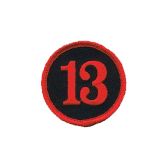 Number 13 Badge Patch Biker Unlucky Badge Symbol Embroidered Iron On Applique