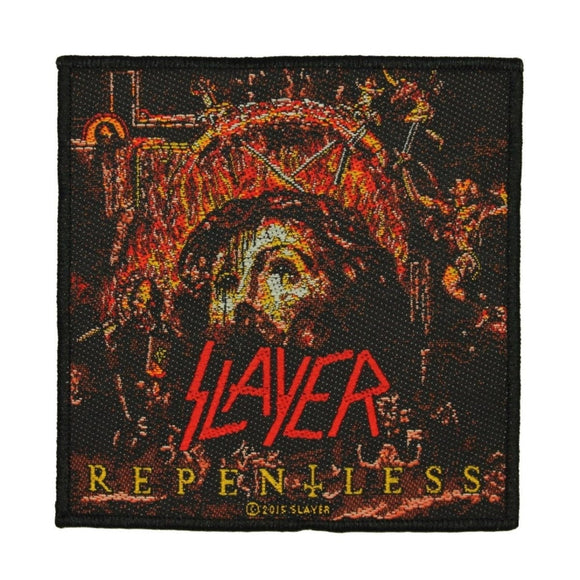 Slayer Repentless Patch Cover Art Thrash Metal Music Band Woven Sew On Applique