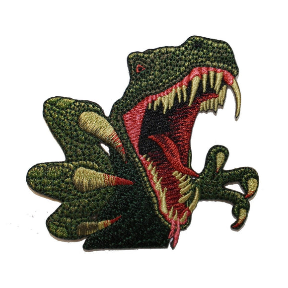 Dinosaurs T Rex Closeup Patch Jurassic Carnivore Embroidered Iron On Applique