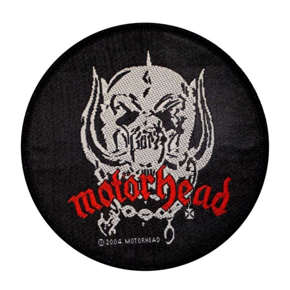 Motorhead Snaggletooth Logo Patch War Pig Heavy Metal Band Woven Sew On Applique