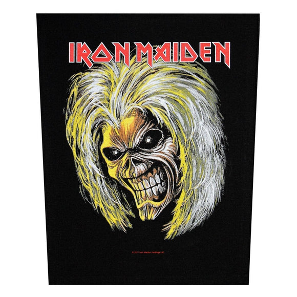XLG Iron Maiden Eddie Killers Back Patch Rock Music Woven Jacket Sew On Applique