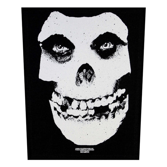 XLG Misfits Classic White Skull Back Patch Rock Music Jacket Sew On Applique