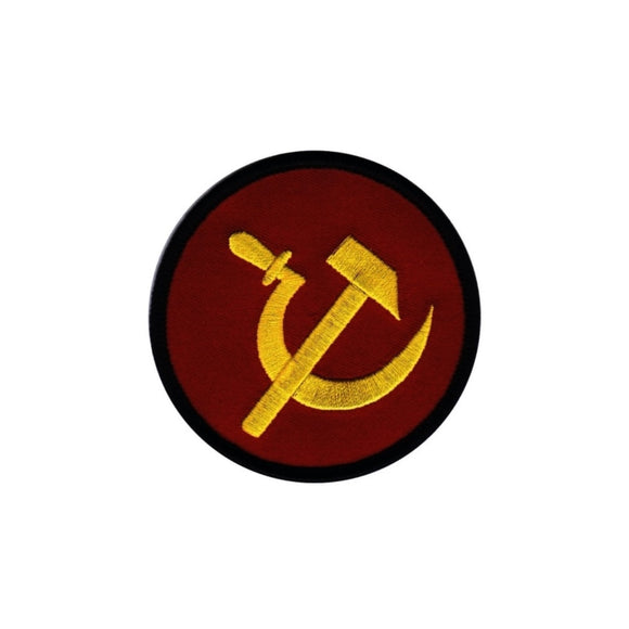 Hammer & Sickle Patch Soviet Russia Icon Communist Embroidered Iron On Applique