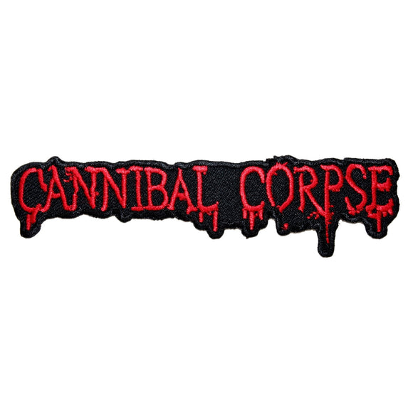 Cannibal Corpse Band Name Patch American Death Metal Music Iron On Applique