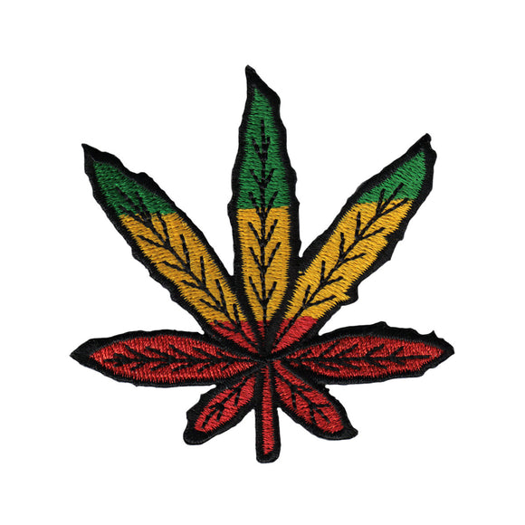Large Rastafari Pot Leaf Die Cut Patch Reggae Cannabis Craft Iron On Applique