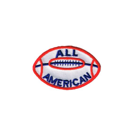 All American Football Patch Team Sport Touchdown Embroidered Iron on Badge Applique