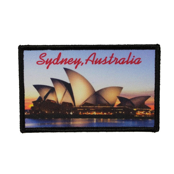 Sydney Australia Opera House Patch Travel Sign Dye Sublimation Iron On Applique