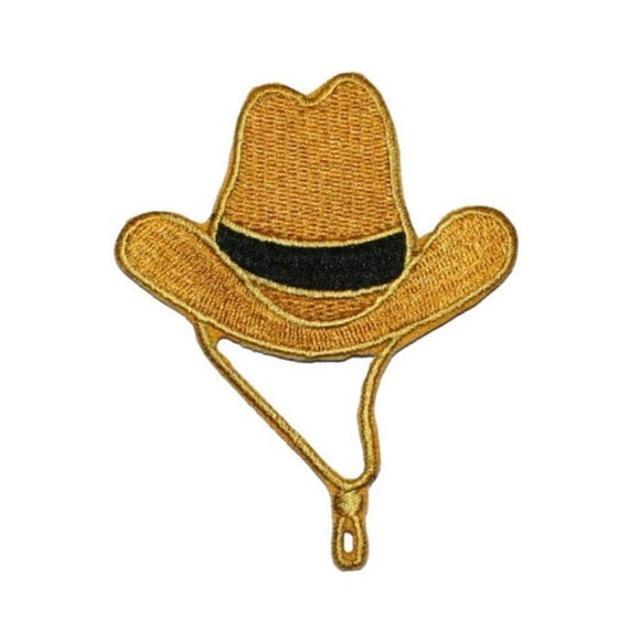 Cowboy Hat Patch Rancher Rodeo Western Embroidered Iron On Applique