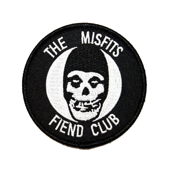 The Misfits Fiend Club Patch Ghost Horror Punk Band Mascot Iron On Applique