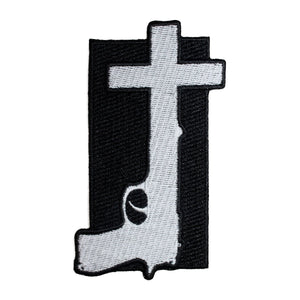 Nine Inch Nails God Given Patch Band Art Year Zero Gun Cross Iron On Applique