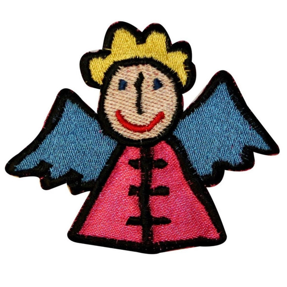Angel Girl Patch Heavenly Cute Christian Wings Embroidered Iron On Applique