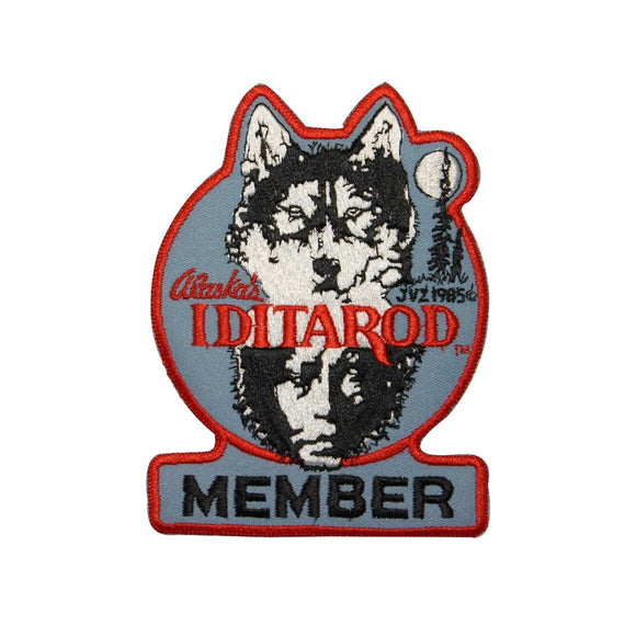 Iditarod Trail Member Patch Sled Dog Race Alaska Embroidered Iron On Applique