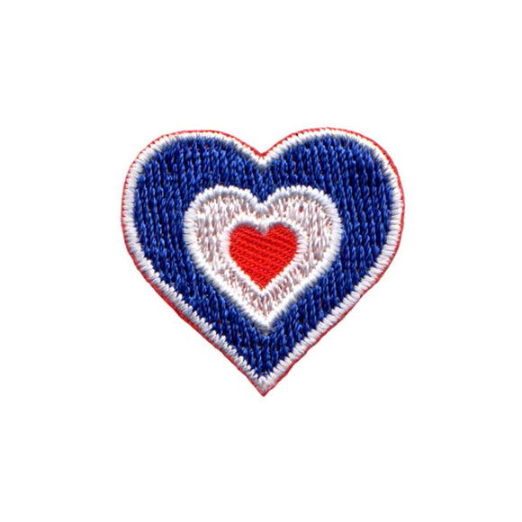 Heart Shaped Mod Target Patch Roundel Bulls eye Embroidered Iron On Applique