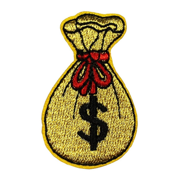 ID 0076C Bag of Money Patch Winning Pouch Jackpot Embroidered Iron On Applique