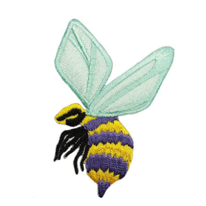 ID 0427A Bumble Bee Patch Wasp Hornet Insect Bug Embroidered Iron On Applique
