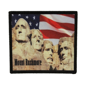 Mount Rushmore Memorial Patch Travel Badge Dye Sublimation Iron On Applique