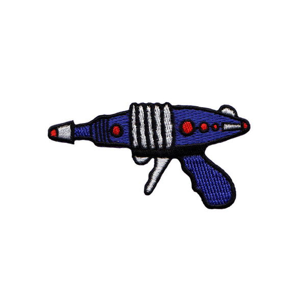 Purple Ray Gun Left Patch Sci Fi Blaster Space Embroidered Iron On Applique