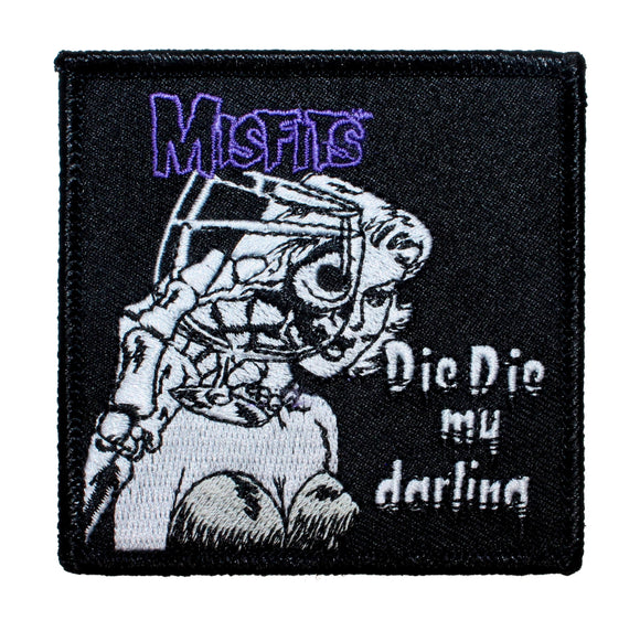 Misfits Die Die My Darling Patch Band Single Art Embroidered Iron On Applique