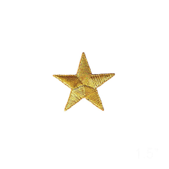1 1/2 INCH Gold Star Patch Sky Astronomy Astrology Embroidered Iron On Applique