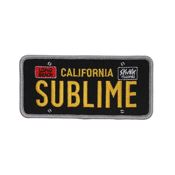 Sublime California License Plate Patch Ska Punk Rock Band Logo Iron On Applique