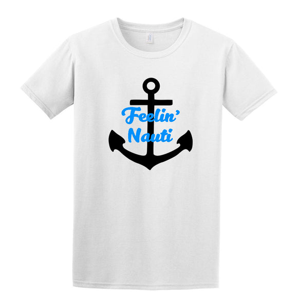 Feelin' Nauti Sailing T-Shirt Nautical Anchor Dye Sub
