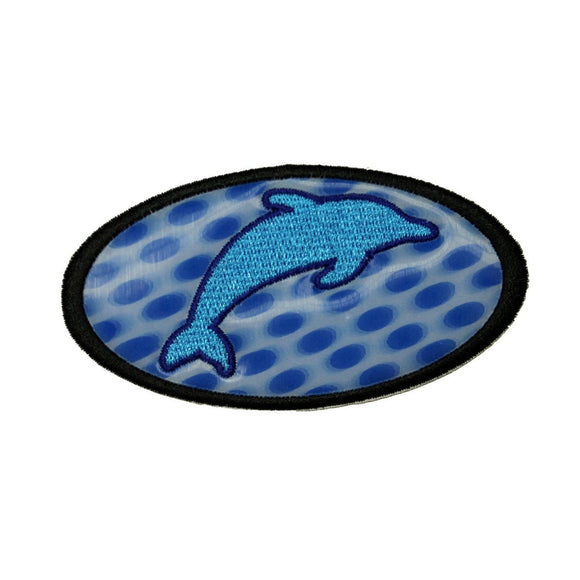 Holographic Dolphin Patch Jumping Ocean Beach Zoo Embroidered Iron On Applique