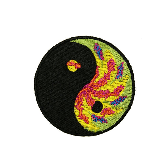 Yin Yang Tie Dye Patch Chinese Forces Symbol Embroidered Iron On Badge Applique