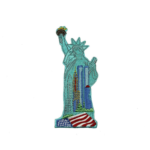 ID 1918 Statue of Liberty Patch New York Patriotic Embroidered Iron On Applique