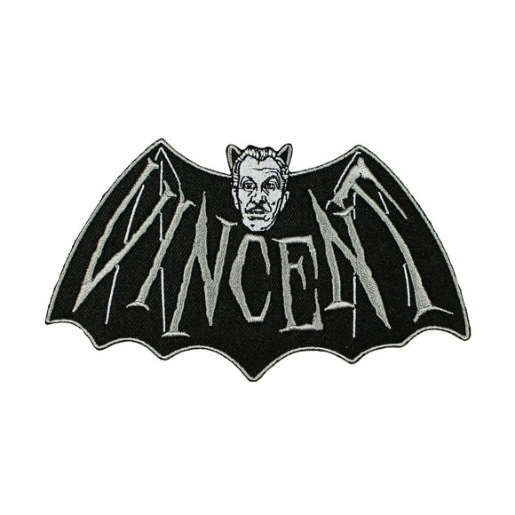 Vincent Price Devil Bat Patch Kreepsville 666 Embroidered Iron On Applique